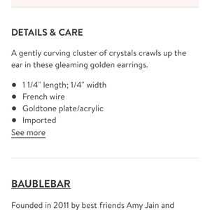 BaubleBar Jewelry - Baublebar Farah Ear Crawlers